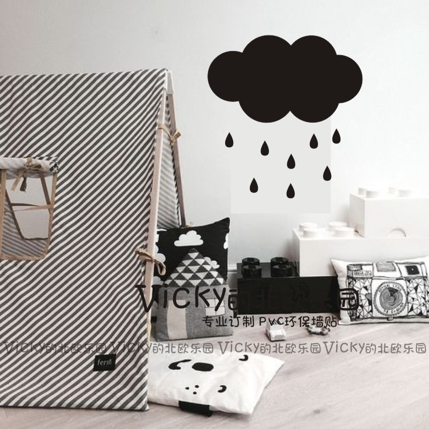 A056 Big cute cloud pattern Wall Sticker Removable Waterproof No pollution for Baby bedroom home decoration 50*30cm for kids(China (Mainland))