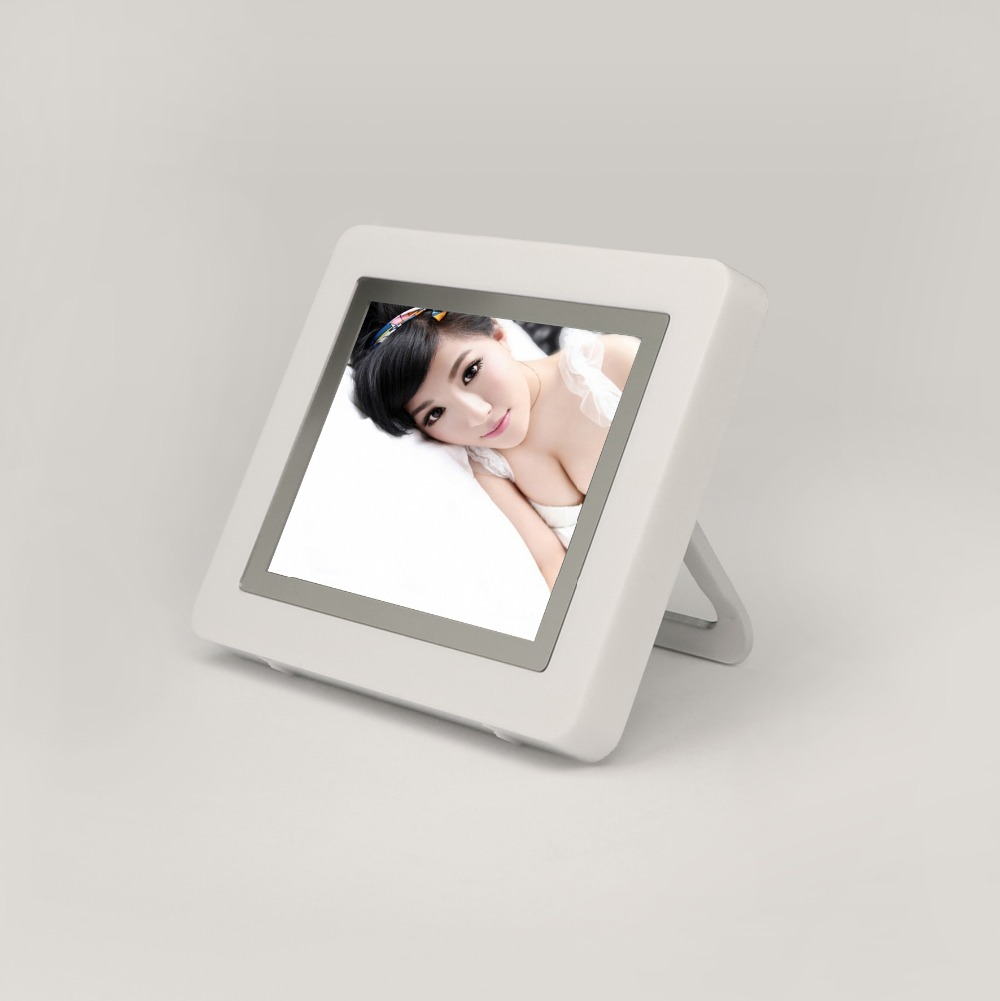 Nice Gift 2.4 inch Mini Acrylic TFT Digital Photo Frame Digital Picture Album 16MB Clock Calendar Display White Color(China (Mainland))