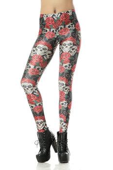Hot Wholesale Fashion 2013 Womens Pirate Costume Leggins Pants Digital Printing FUNNY SKULLS LEGGINGS