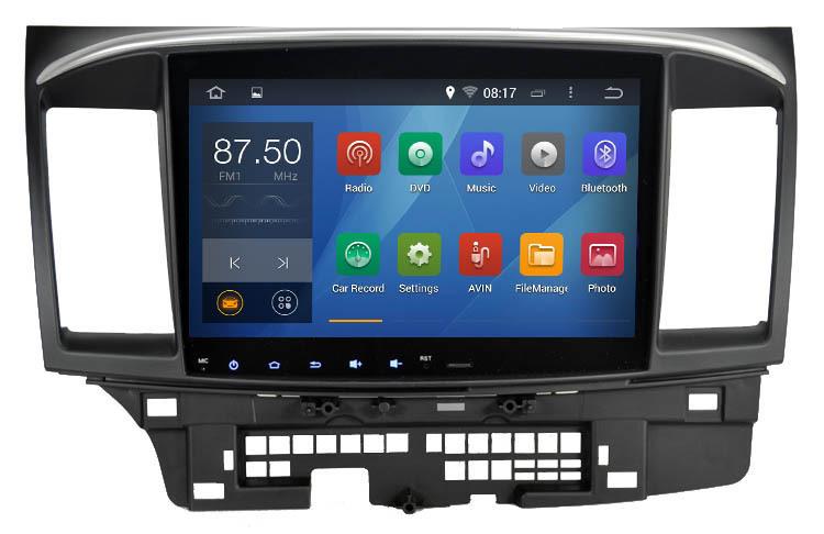 Автомобильный DVD плеер Hotaudio 10,2 4.4.4 GPS Mitsubishi Lancer Galant 1.6g 1G RAM автомобильный dvd плеер zhoon android 4 2 2 dvd gps xtrail nissan x trail