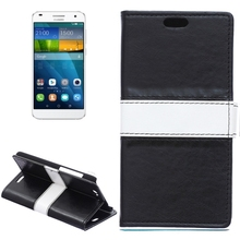 Buy Top Fashion Color Matching Flip Leather Mobile Phone Case Holder Card Slots Wallet Cover Huawei Ascend G7 for $5.31 in AliExpress store