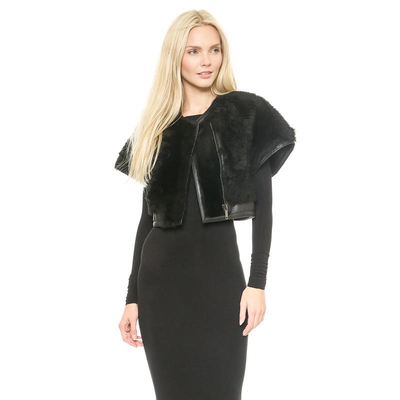 New Fashion 2016 Winter Spring Jacket Women Black Leather Patchwork Coat Short Vintage Casual Women Coats And Jackets Plus Size(China (Mainland))