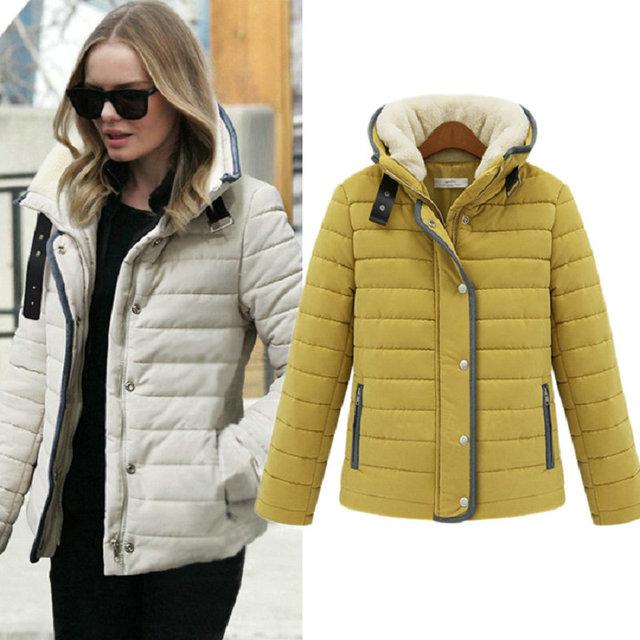 Мода зимние пальто женщин парка пуховики
