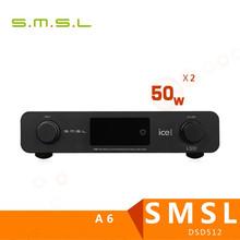 Buy 2017 SMSL A6 AK4452 50Wx2 DSD512 Digital Decoder HIFI Audio Power Amplifier OPTIC/Coaxial/XMOS/USB DAC 384KHZ/32Bit for $449.99 in AliExpress store