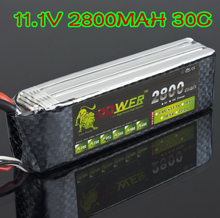 RC Quadcopter Lipo battery 11.1V 2800MAH 30C Newest 1pcs Lion Power With T Deans plug For RC Car helicopter 6 channel align trex