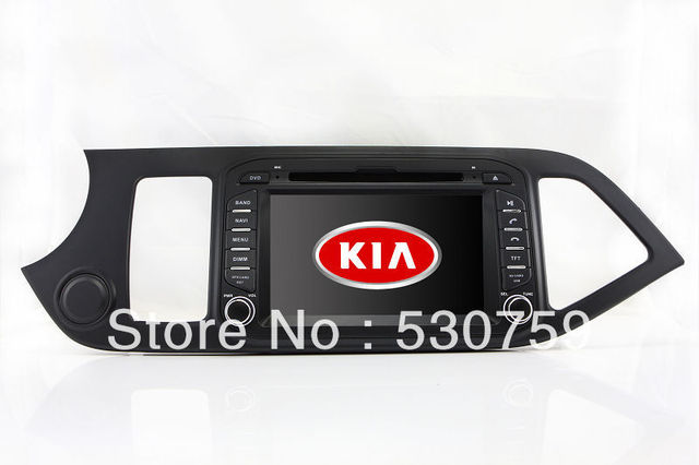 "7"" In Dash Car DVD Player GPS Navigation for Kia Euro Star Picanto Morning 2011-2012 with TV Radio BT Free Map RDS Stereo Video"