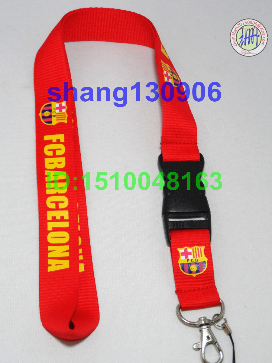 Sport & movement mp3/mp4/mp5 Phone red lanyard keys ID neck straps for soccer fans vendor(China (Mainland))