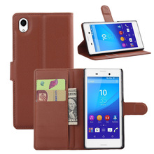 Buy Sony Xperia M4 AQUA Vintage Leather Wallet Case Card Slot Flip Phone Cover Xperia M4 AQUA Phone Bag Cases for $4.91 in AliExpress store