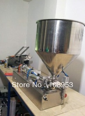 100% Warranty Brand new 316# Stainless steel 25-1000ml  liquid or paste filling machine, semi filler, single head with Cylinder
