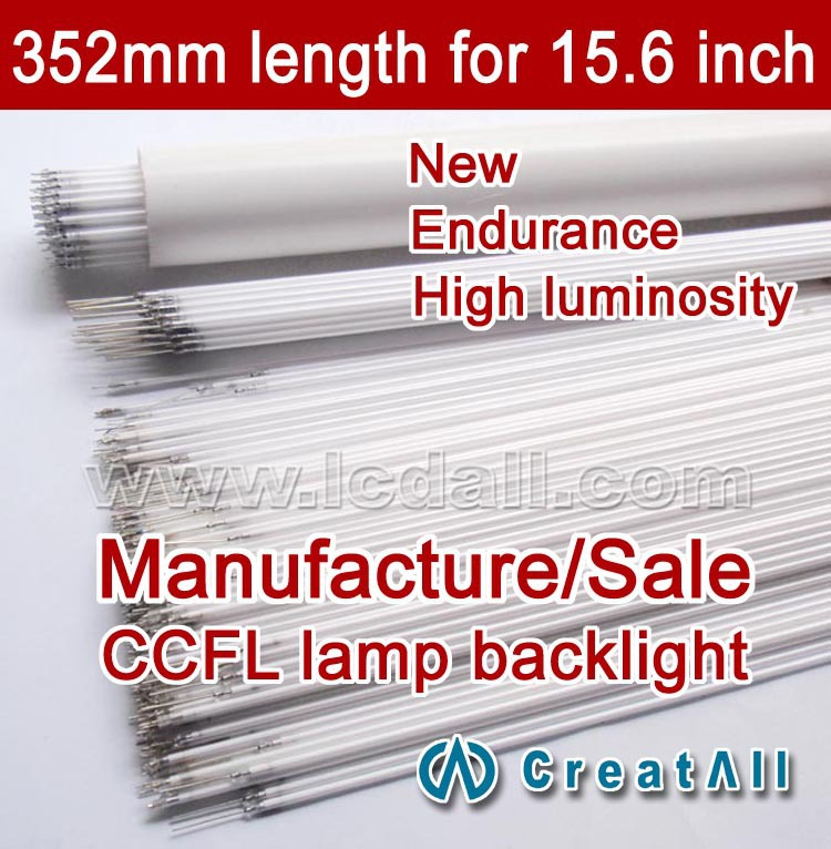 Free shipping 20pcs 15.6inch wide sreen LCD CCFL lamp backlight ,CCFL backlight tube,352MMx2.0mm,15.6 inch wide sreen CCFL light(China (Mainland))