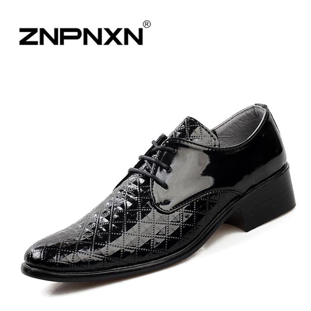 Оксфорд обувь для мужчины платье обувь кожа бизнес шнуровка мужчины квартиры обувь, ...
