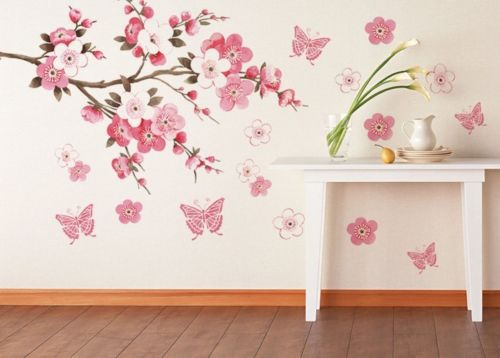 45*60 CM DIY Removable vinilo sakura Flower Bedroom Vinyl Decal Art Decor cakypa Wall Sticker - We Are The World Good To See You store