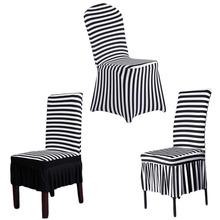 New Home decoration Chair Slipcovers  wedding decor stripe Polyester Spandex Dining Chair Covers For Wedding Party Chair Cover (China (Mainland))