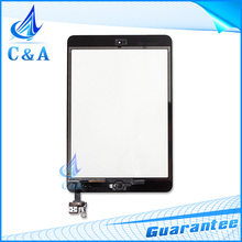 1 piece free China post black&white new replacement parts for ipad mini 2 touch screen digitizer with button with IC +stickers(China (Mainland))