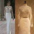 Robe De Mariage Lace Long Sleeve Wedding Dresses Sheer Sexy Bridal Gown Plus Size vestido de