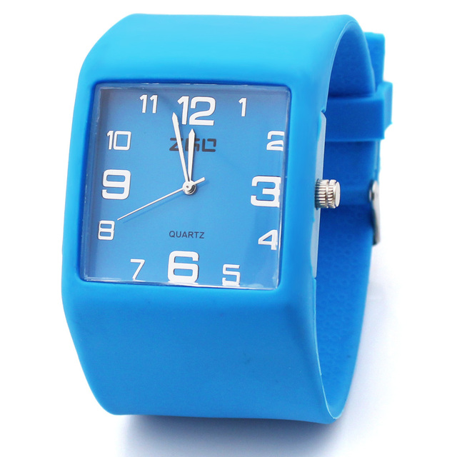 free shipping Zgo quartz watch candy color jelly table casual wrist support sports watch silica gel table