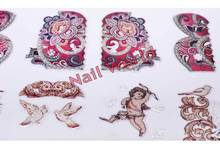 New 3d Nail Art Stickers 1sheet 108pcs Colorful Mix Design Meallic Polish Nail Decals DIY Manicure
