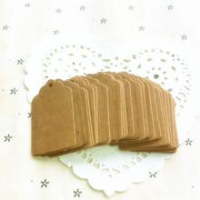 Hot Vintage Kraft Paper Gift Cards etiquetas colgantes etiqueta con remolino bordes para decoración de la boda tarjeta de DIY que hace Scrapbooking Paper Crafts