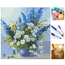 Buy Flower DIY Painting Numbers Handpainted Canvas Painting Home decor Wall Art Picture Living Room Best Gift box for $12.88 in AliExpress store