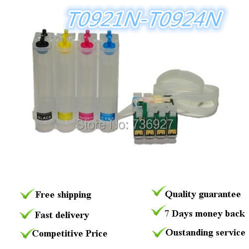 Without ink  CISS T0921N/T0922N/T0923N/T0924N,Suit for Epson T26//T27/TX117/TX119/TX106/TX109/CX4300,with permanent chips