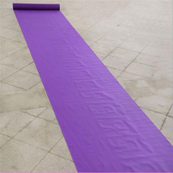 (20M/Lot) 1M Width Deep Purple Wedding Carpet Runner Disposable Runner For Party Banquet Decoration Supplies(China (Mainland))