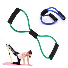 Resistance Training Exercise Muscle Elastic Band Tube Weight Control Fitness Stretch Equipment For Yoga Multicolor
