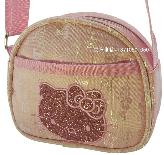 Hot Selling Hello Kitty Messenger bag for Children 10pcs/lot 137910(China (Mainland))