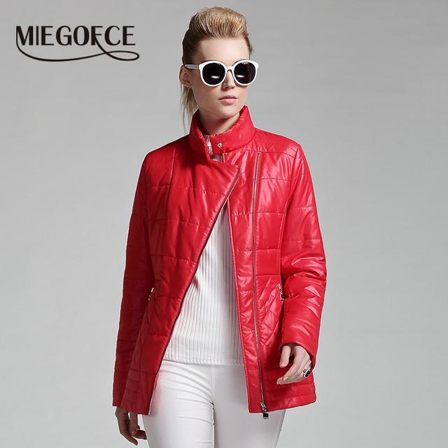 Miegofce 2016 весна короткая теплый высокое качество женщины хлопок женщина мода пальто