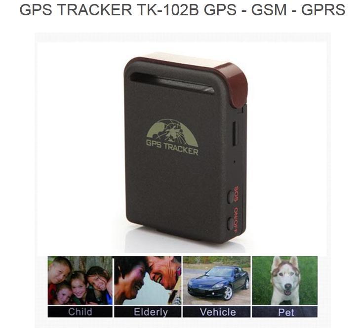 Free Shipping Realtime SOS alarm GPS Mini TK102B Car Vehicle Tracker For Personal Tracking Device Portable rastreador veicular(China (Mainland))