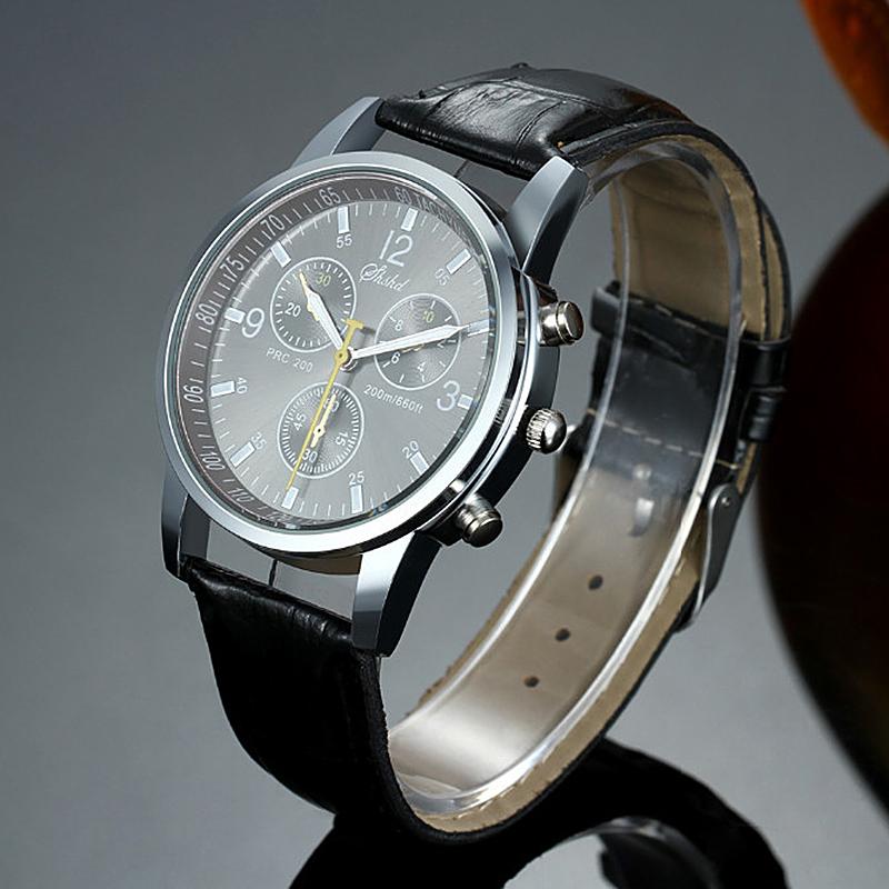 2015 New Fashion Quartz wrist watches Men Luxury Brand GENEVA Leather Straps High Quality male top designer chronograph clock(China (Mainland))