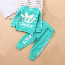new 2016 autumn children's clothing set baby girls boys clothes sets brand sports suit cotton 2pcs hoody+pants kids clothes hot(China (Mainland))