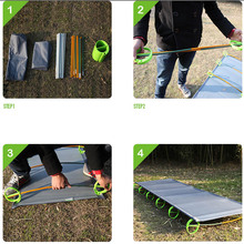 Supervivencia Survival Kit Brs mc1 Therm a rest Luxurylite Ultralite Cot Camping Sleeping Folding Tent Bed