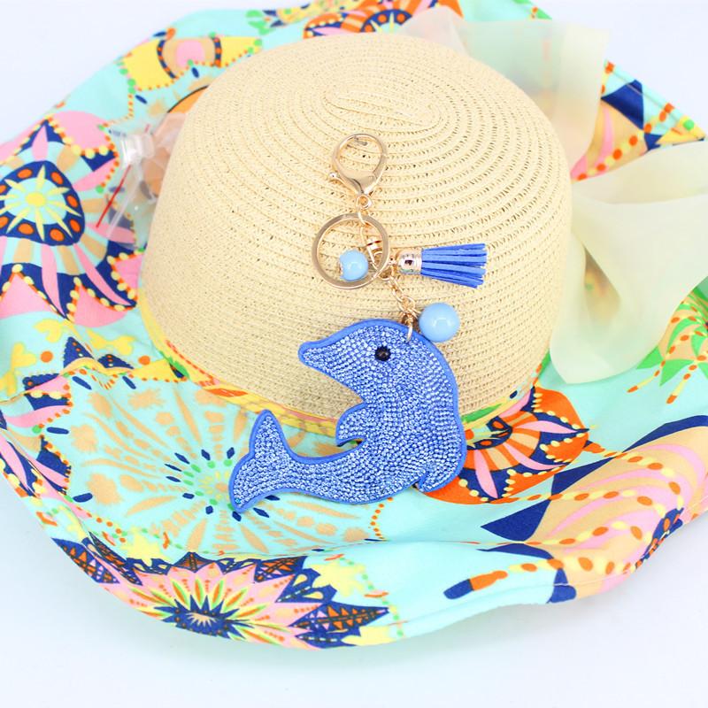 2015 Fashion Jewelry Cute Women Key Chain key Cover Rhinestone Inlaid Leather tassel Bear Key Cap Gift 10 Colors wholesale