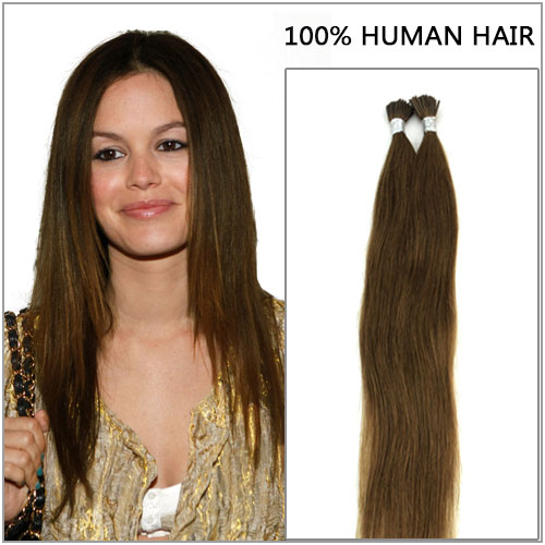 Fashionable Malaysia Hair I Tip Extensions 6A Human Hair Extensions Pre Bonded Hair Extensions 1G Per Strand Tip 24 Inches(China (Mainland))