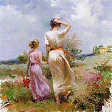 High%20quality,oil%20Painting%20canvas,Pino%20Daeni%20art%20%20for%20sale,Strolling%20in%20Tuscany%20,Mother%20and%20child,Landscape%20painting,Hand-painted