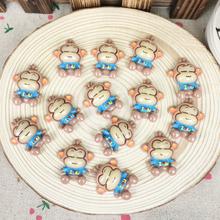 10Pieces Resin Flatback Flat Back Cabochon Kawaii DIY Resin Craft Decoration Cartoon Monkey Embellishment Scrapbooking:23*27mm