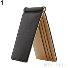 Trendy Ultra Thin Magic Faux Leather Card Holder Bifold Mini Wallet 1UCD 4A7A