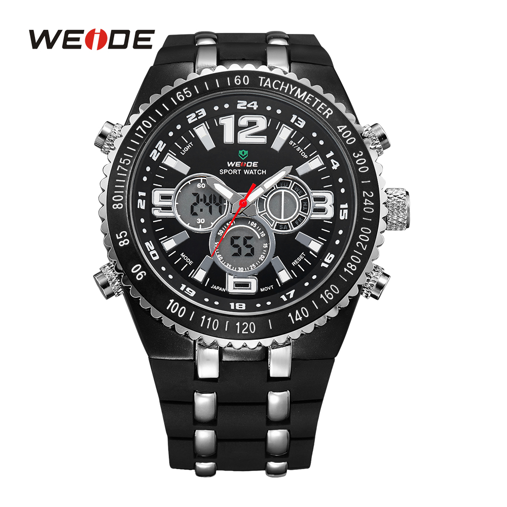 WEIDE Famous Brands Watches Men Quartz Casual Luxury Brand Outdoor LCD Sport Army Military Watch Male Dual Time Clock Wristwatch<br><br>Aliexpress