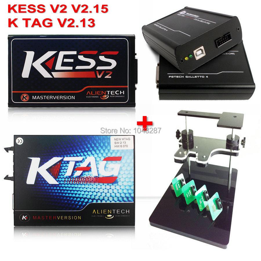 Здесь можно купить  KESS V2 V2.15 V4.036 KESS V2 Master +Ktag K-tag ECU Programmer K TAG V2.13 FW 6.070 + FgTech V54 Galletto 4 +BDM Frame Adapter  Автомобили и Мотоциклы