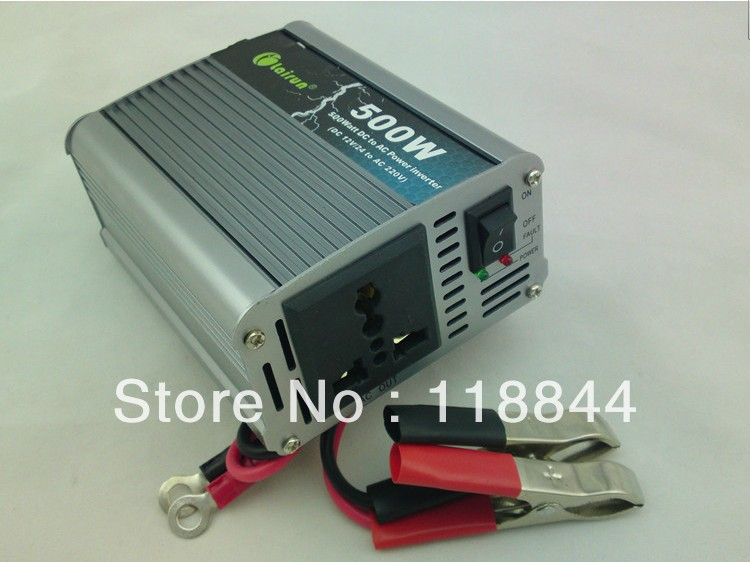 Car inverter 500W motor inverter 12/24 220 v to 220 v power supply switch w free shipping(China (Mainland))