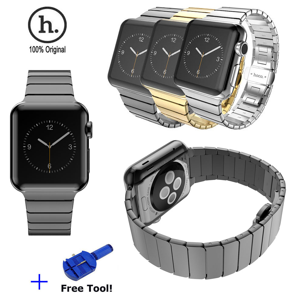 High Quality HOCO Luxury Butterfly Lock Link Bracelet Stainless Steel Strap Watch Bands for Apple Watch Sport Edition 42MM(China (Mainland))