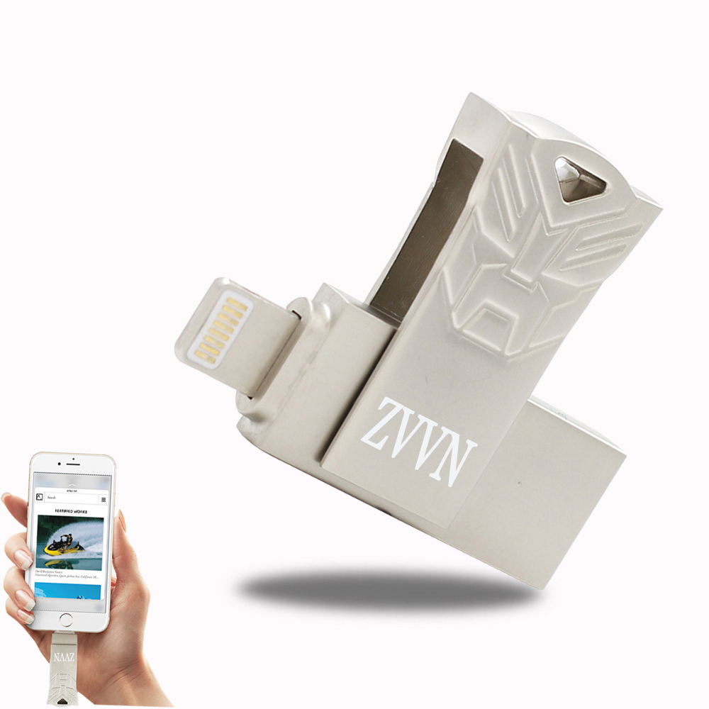 Usb Flash Drive For iPhone OTG USB Flash Drives 64GB 32GB 16GB For IPhone/Ipod/ipad Air 16 gb usb flash memory storage devices(China (Mainland))