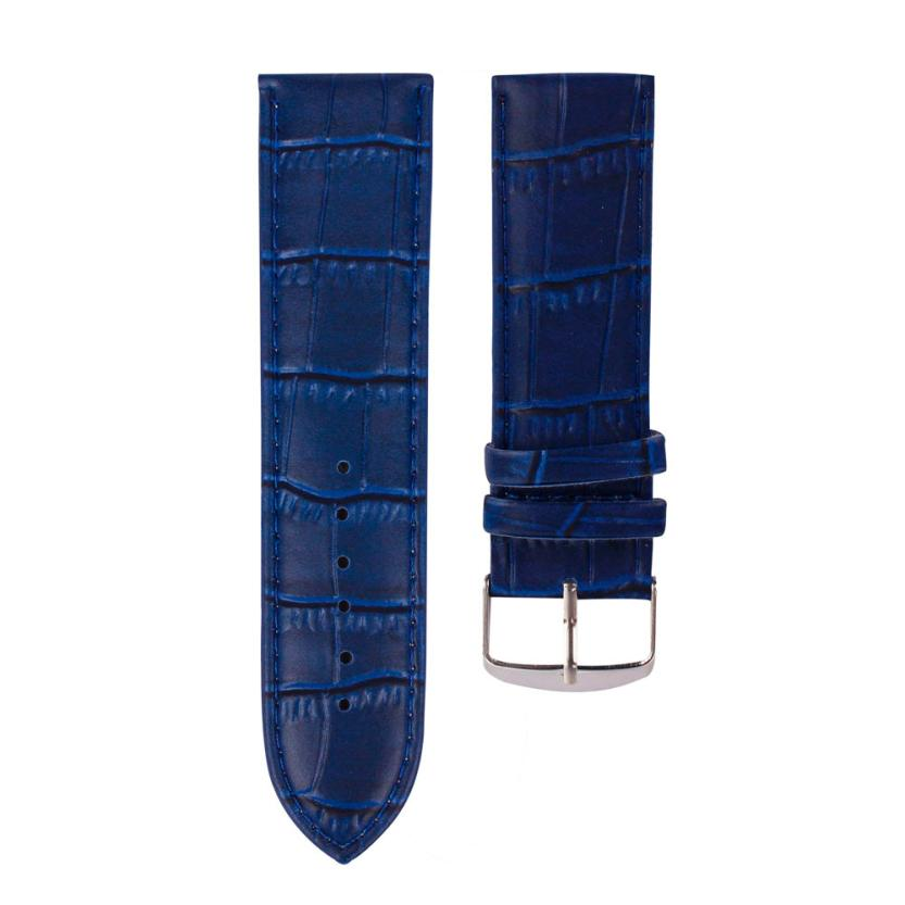 Perfect Gift 20mm High Quality Soft Sweatband Leather Strap Steel Buckle Wrist Watch Band june15(China (Mainland))