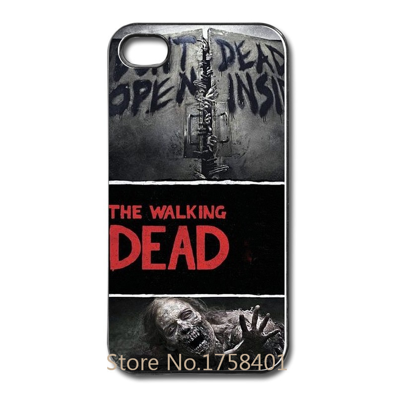 LHL custom printed The Walking Dead walker high quatity case for iphone 4 4s 5 5s 5c cheapest price with free shipping-LX125(China (Mainland))