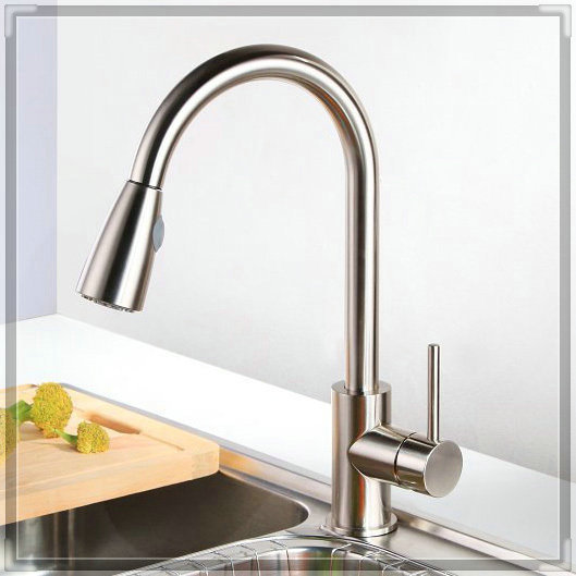 BAKALA kitchen faucet brushed nickel single hand kitchen tap mixer brass instant hot water tap LH-8105 bathroom faucets price<br><br>Aliexpress