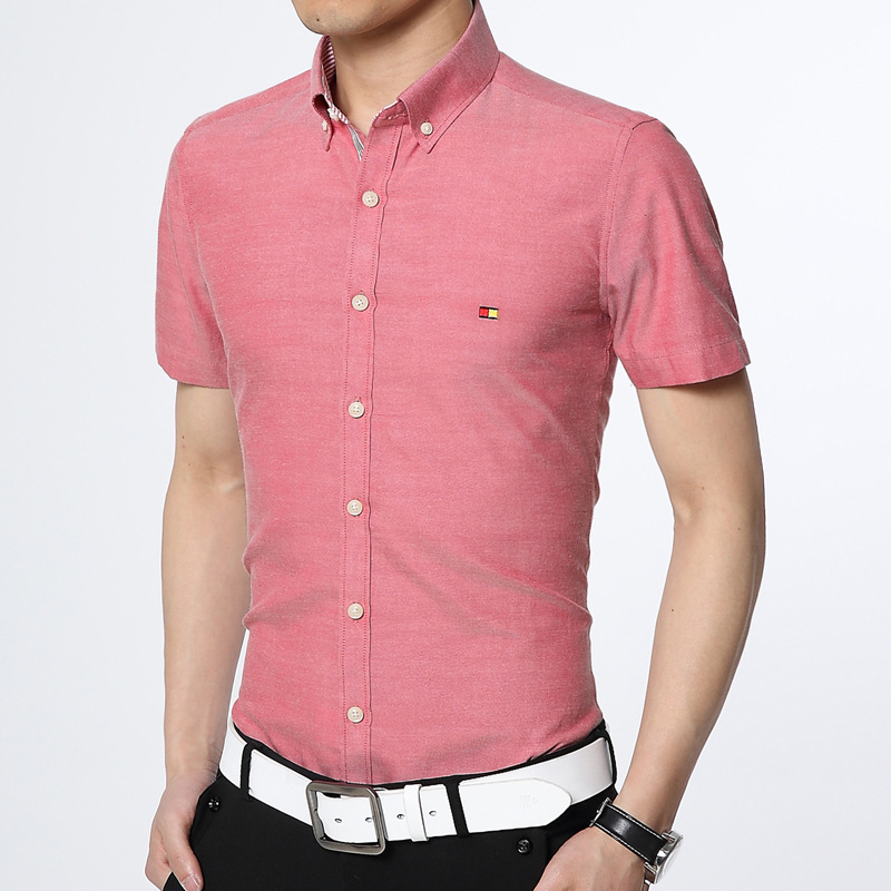 Turmec Slim Fit Short Sleeve Dress Shirts For Men