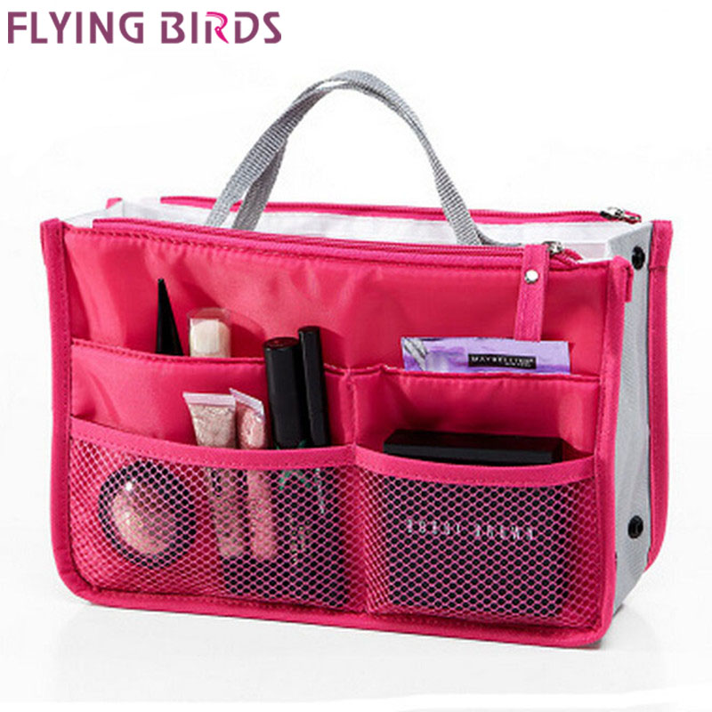 FLYING BIRDS! 2016 Multifunction Makeup Organizer Bag Women Cosmetic Bags toiletry kits Outdoor Travel Bags Ladies Bolsas LM2136(China (Mainland))