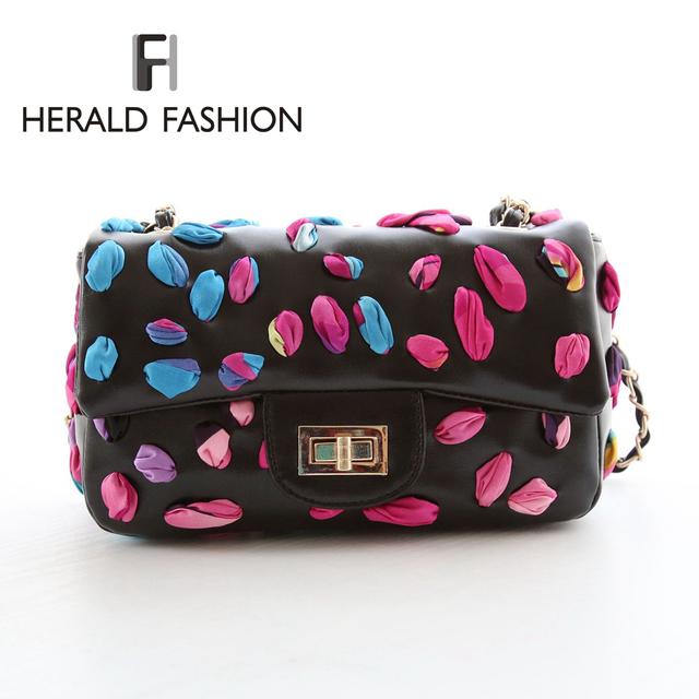 Красочные шелковой лентой украшают цепи сумка стильный уникальный сумка для женщин CC стиль засов бренд ранец