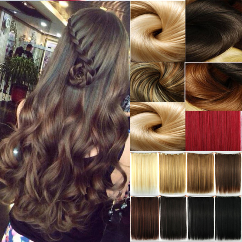 """Multi colors Avaliable 1Pcs 24""""/60cm 150g Synthetic Hairpieces Clip In Hair Extensions Hair Feathers In Hair Extension(China (Mainland))"""