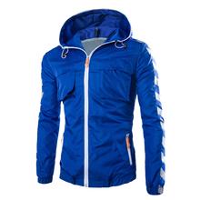 2015 jacket men autumn casual outdoors sportwear coats slim windbreaker jaqueta masculina M L XL XXL DW730